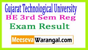 Gujarat Technological University BE 3rd Sem Reg Dec 2016 Exam Results