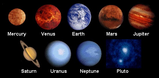The Earth and the Universe The 9 Planets
