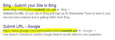 daftar blog ke google dan bing