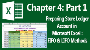 FIFO and LIFO method of issuing out goods - MS Excel