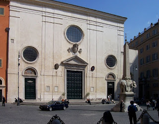 The Church of Santa Maria sopra Minerva in Rome