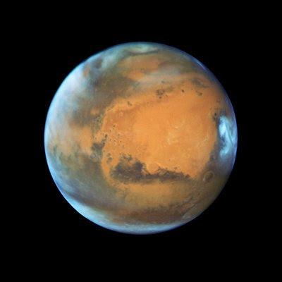 Una impresionante imagen de Marte en su posición más cercana a la Tierra