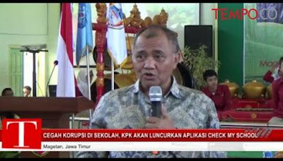 Ketua KPK Agus Rahardjo saat menjadi narasumber Kelas Inspirasi di Magetan, Jawa Timur. TEMPO/Nofika Dian Nugroho