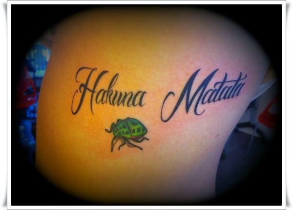 Hakuna Matata Tattoo Design The Lion King