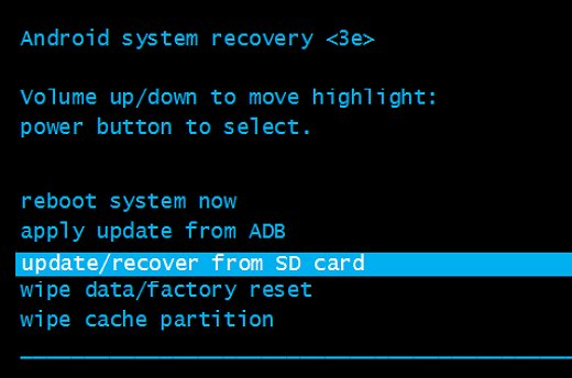 Update Recovery From SD Card Android