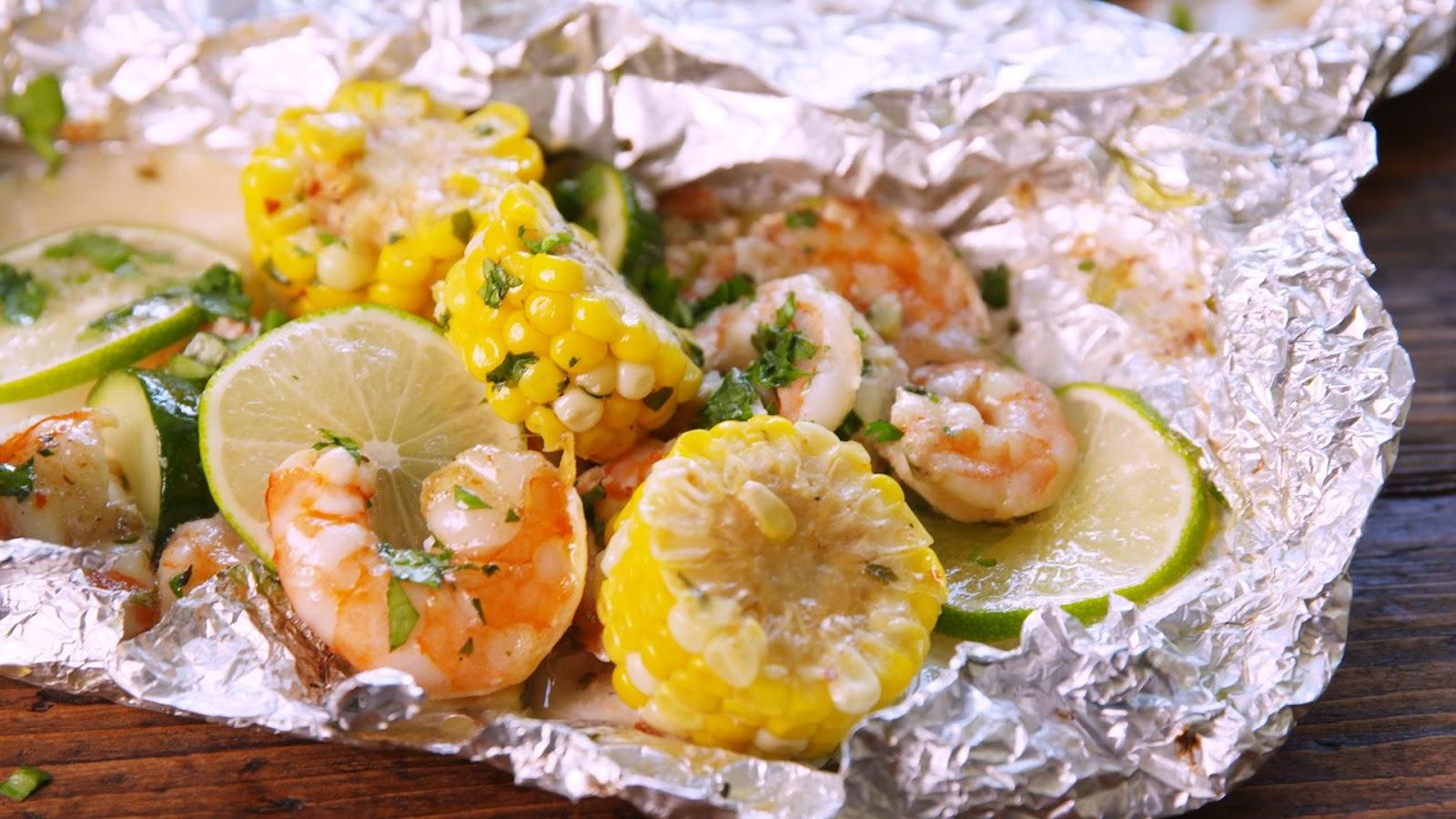 Grilled Shrimp Foil Packets - food-drink-recipes.com