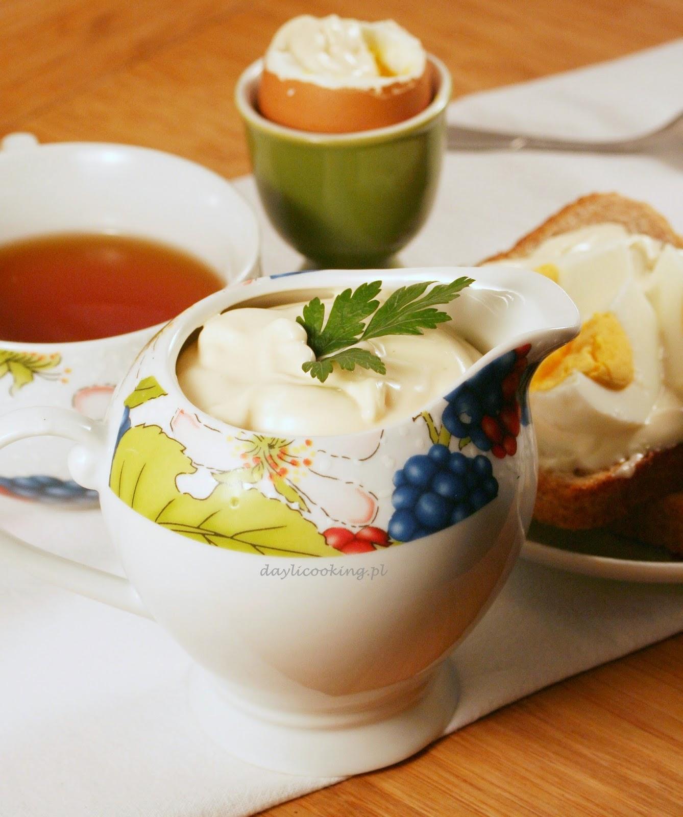 jak zrobić majonez?, przepis na domowy majonez, daylicooking