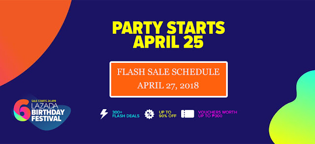 Lazada Birthday Sale Flash Sale Schedule April 27 2018