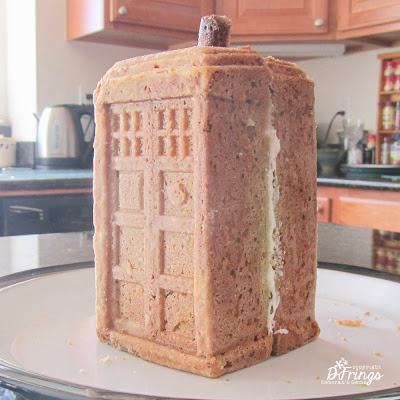Tardis Cake - photo by Deborah Frings - Deborah's Gems