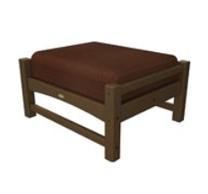 Trex Outdoor Furniture Rockport Club Tree House Ottoman with Chili Sunbrella Cushion