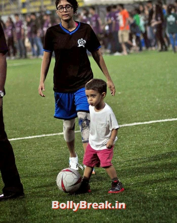 Kiran Rao,  Azad Rao Khan, Bollywood Celebs play football match for Aamir khan's daughter Ira Khan
