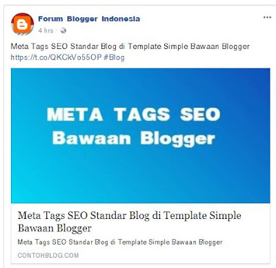Share Facebook Posting Blogger