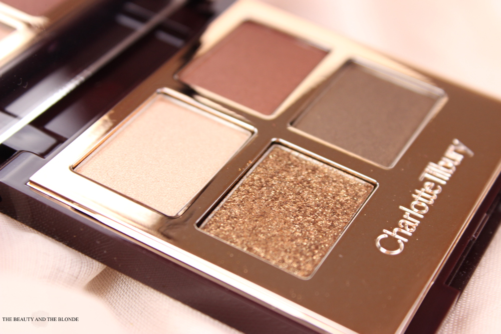 Charlotte Tilbury London Makeup Artist The Dolce Vita Eyeshadow Palette Quad Review Swatches