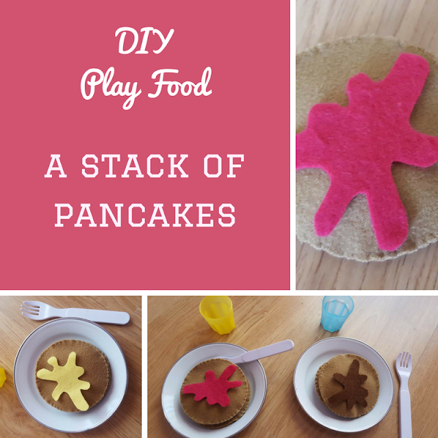 DIY Play Food: a stack of pancakes