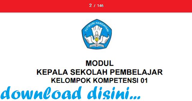 gambar Modul Kepala Sekolah Pembelajar Format Pdf Untuk SD, SMP, SMA/SMK