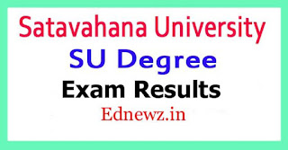 Satavahana University Degree Exam Results 2021