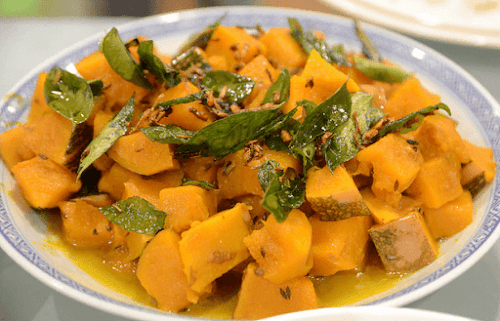 Cumin and Curry Leaves Pumpkin