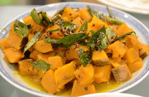 Cumin and Curry Leaves Pumpkin