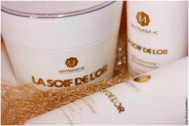 Myriam K, La Soif de l'Or, gamme soin capillaire à la poudre d'or - Blog beauté