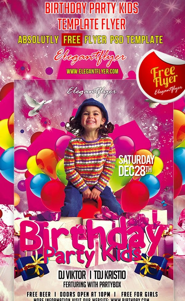 Birthday Party Kids Flyer