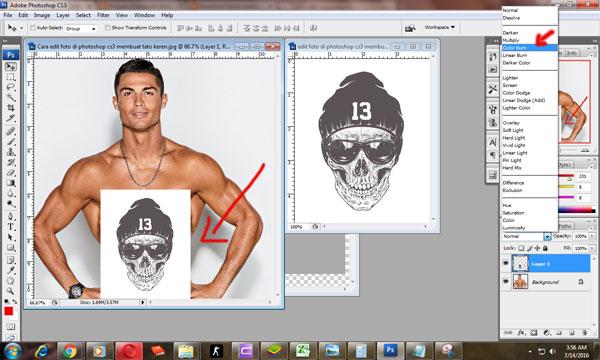 Cara edit foto di photoshop cs3 membuat tato keren