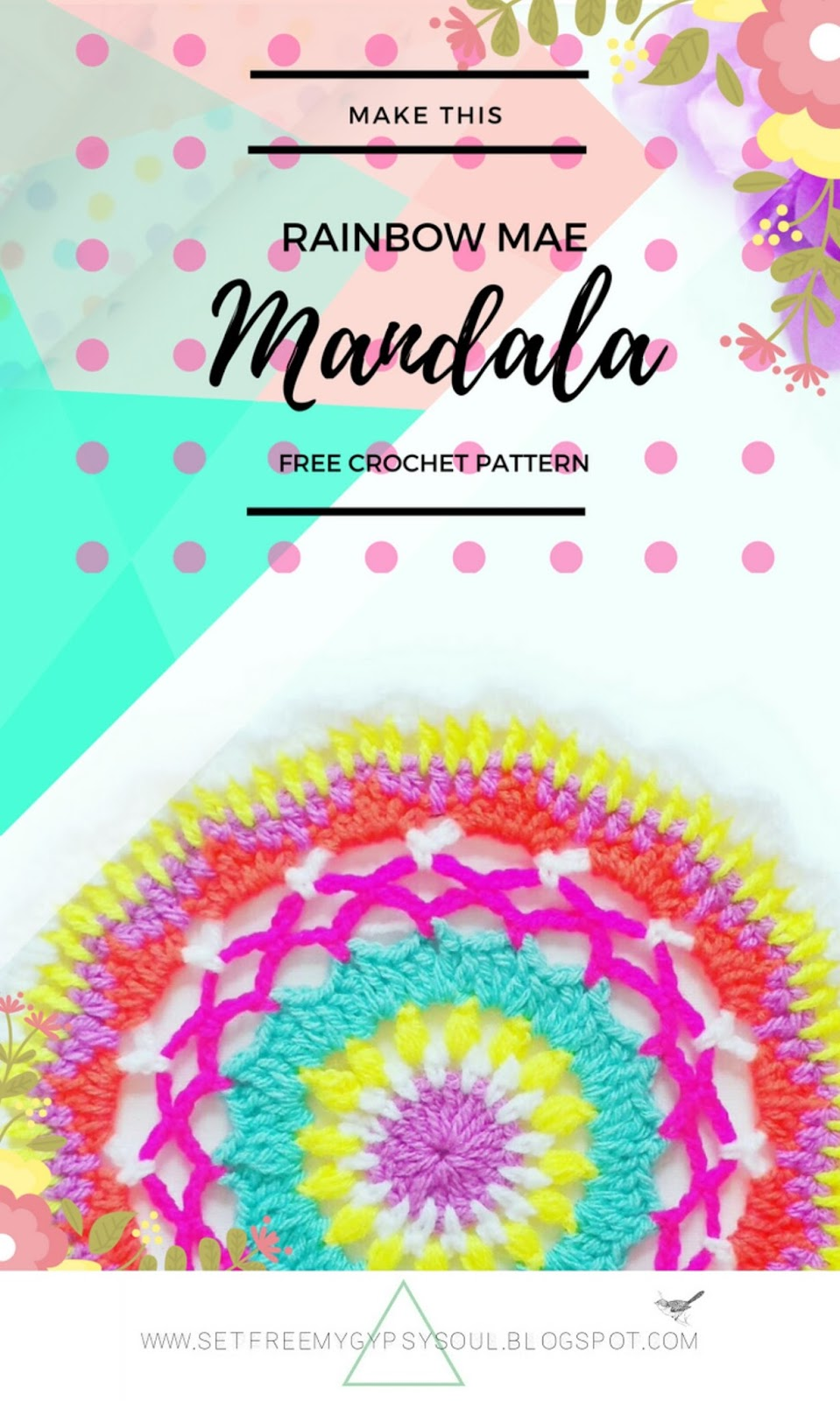 free crochet mandala pattern easy colourful