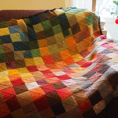 Generic Mitered Square Blanket - Free Pattern