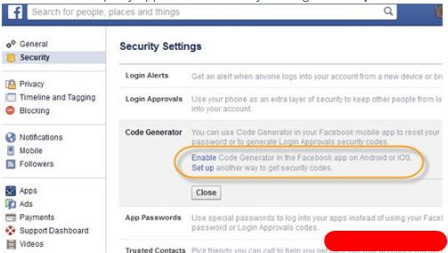 Code Generator for Facebook