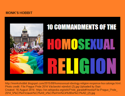 10 Commandments of the Homosexual Religion