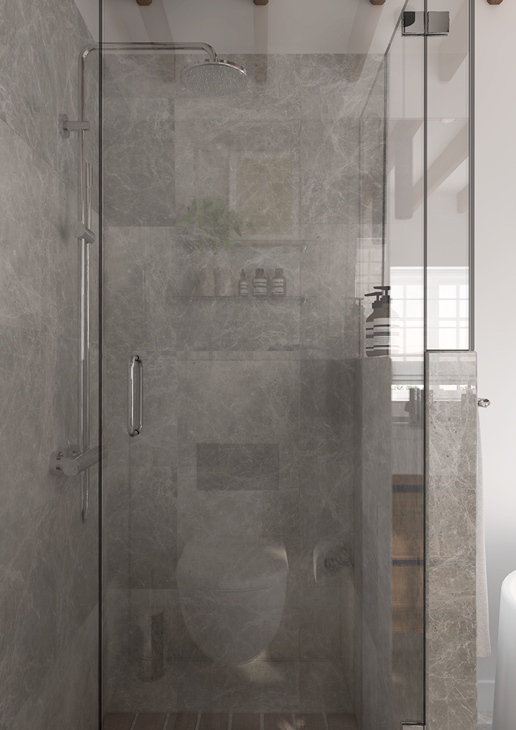 Marble and wood bathroom design. E-design proposal by Eleni Psyllaki My Paradissi