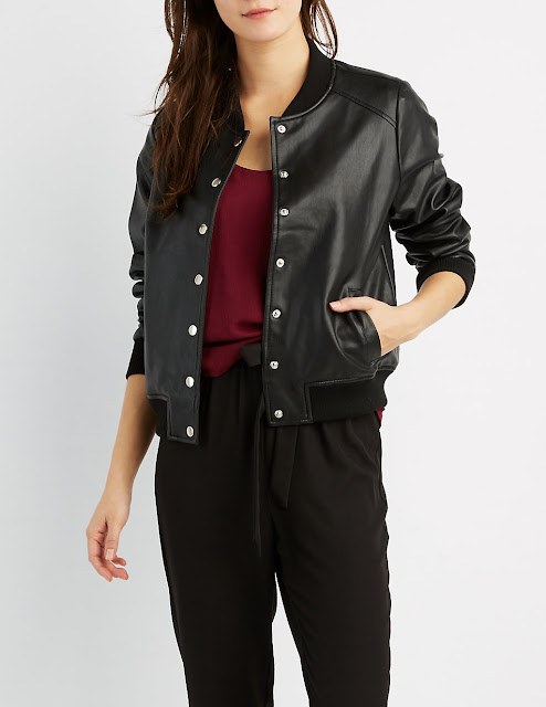 Thursday Must Haves: Faux Leather Bomber Jacket | City of Creative Dreams