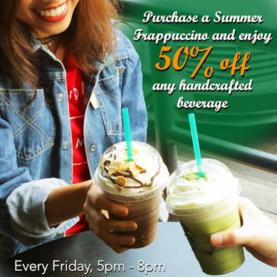 Starbucks Summer Frappuccino Friday Half Price Discount Promo
