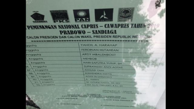 Ini Kandidat Anggota Timses Prabowo-Sandi