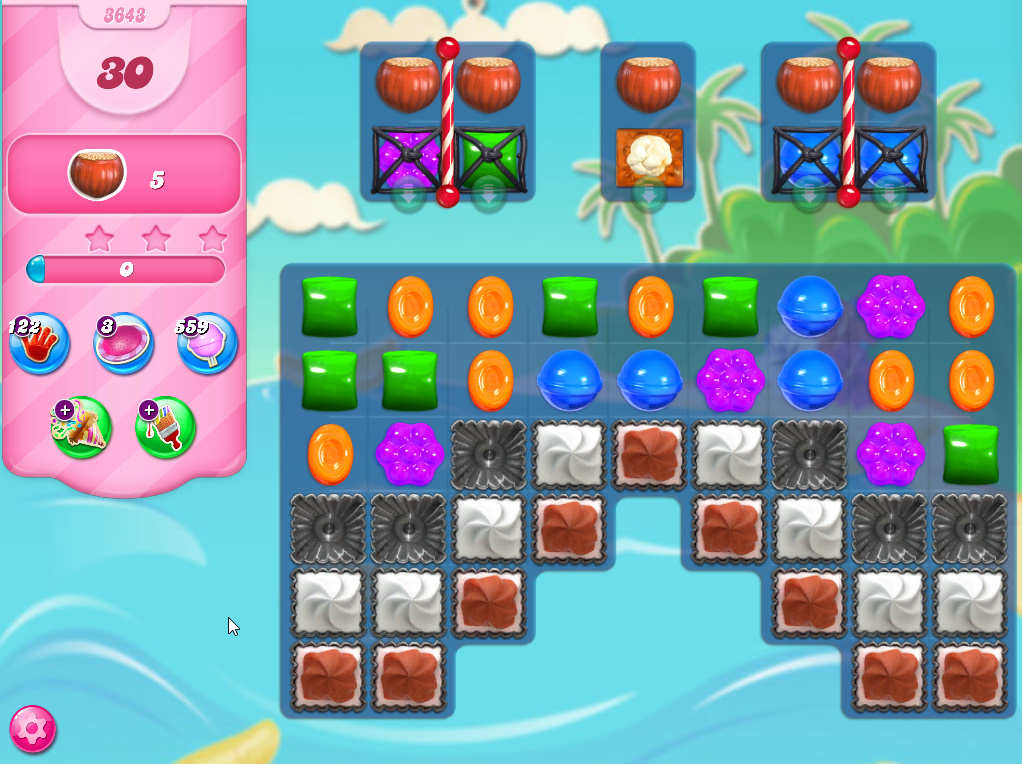 Candy Crush Saga level 3643
