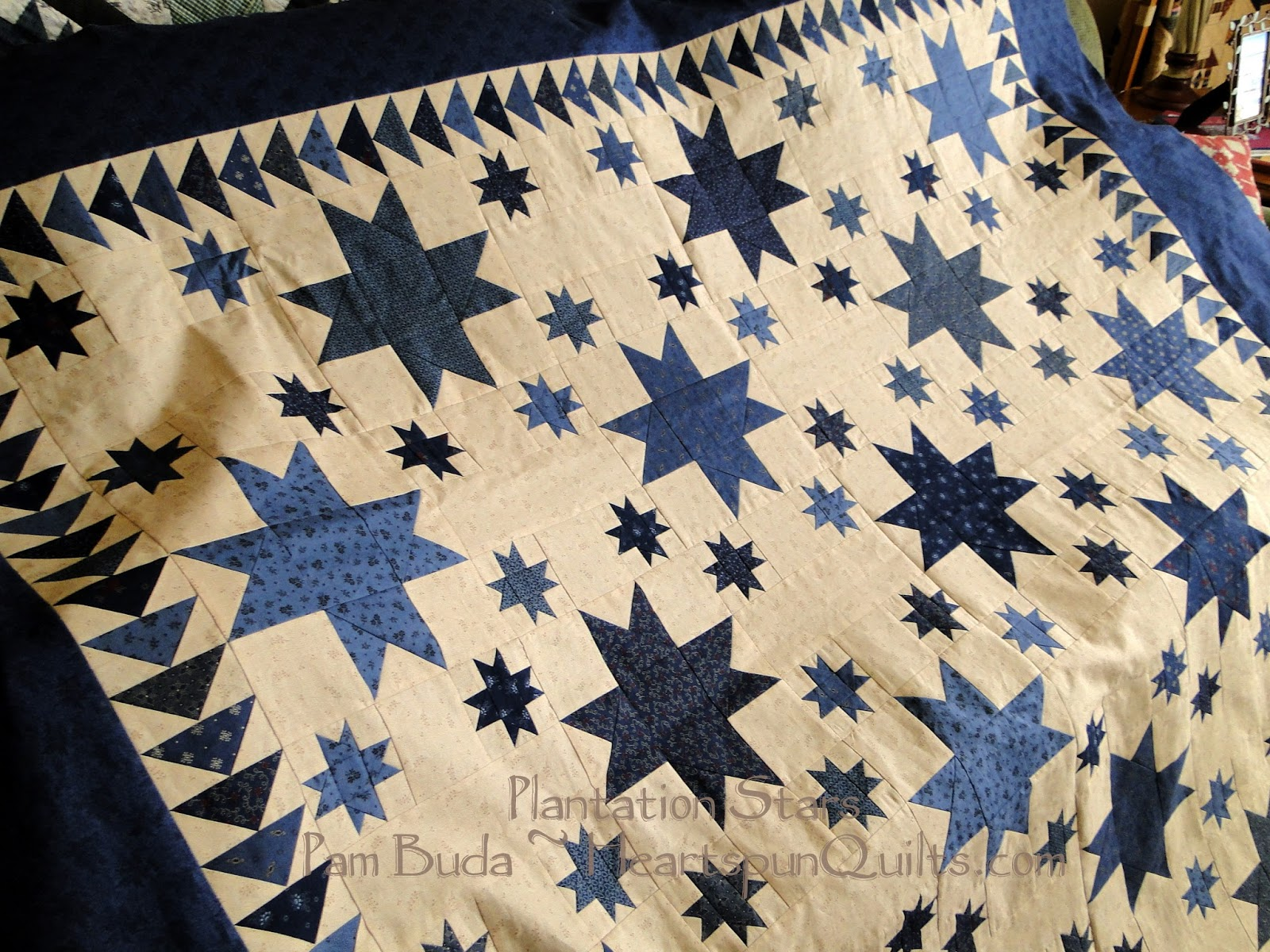Heartspun Quilts ~ Pam Buda: Plantation Stars ~ Off To Be Quilted : when did quilting begin - Adamdwight.com