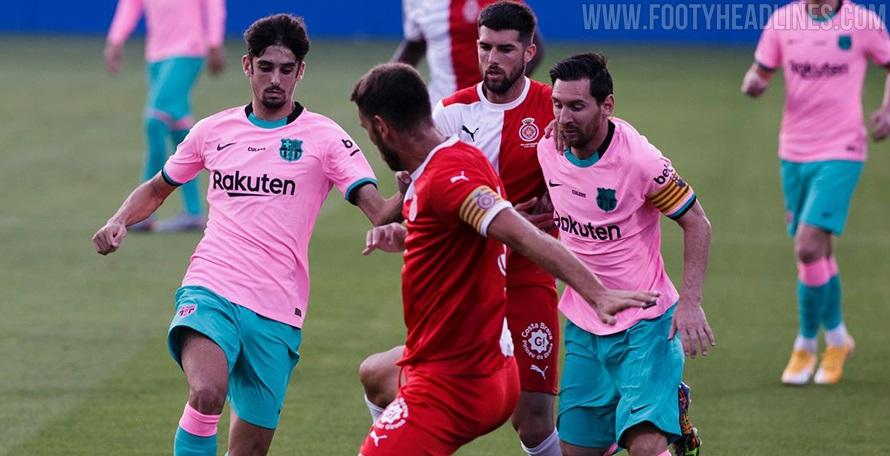 Barcelona Wear Third Third Kit Combination Already This Season Footy Headlines