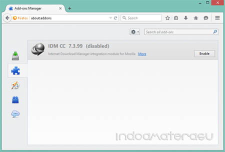 Enable Add Ons IDM Mozilla Firefox 2