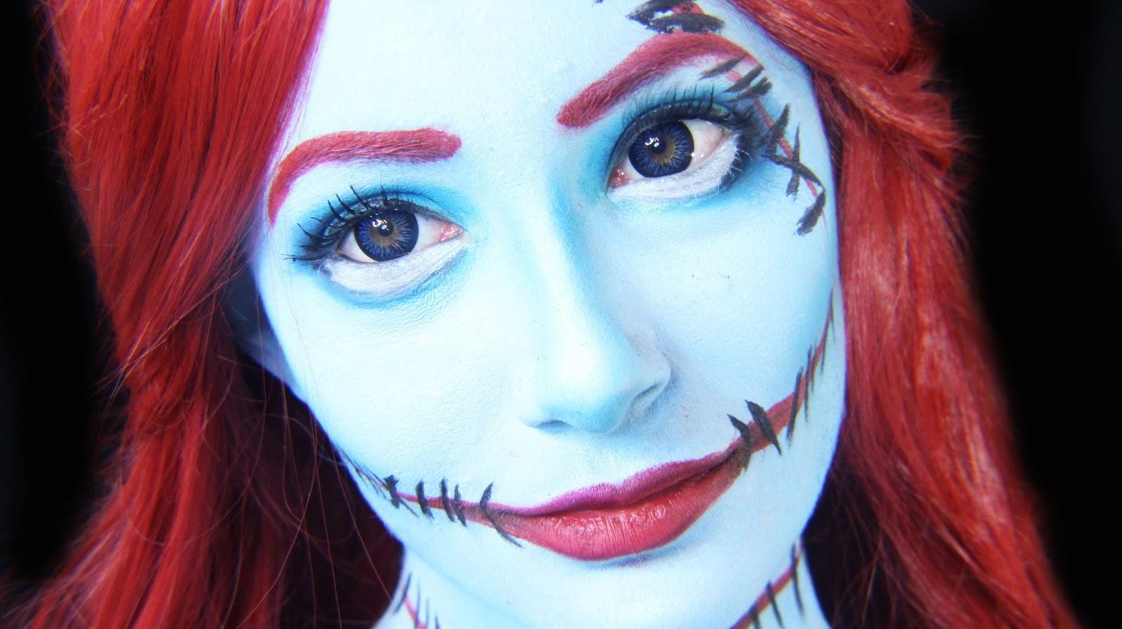 doing a holiday version of sally from tim burton s the nightmate before christmas i wanted sally nightmare before christmas makeup
