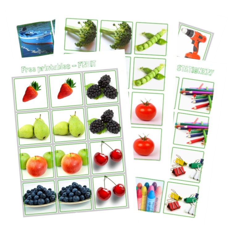 Free Printables Series For Kids - Memory Game - AppleGreen Cottage