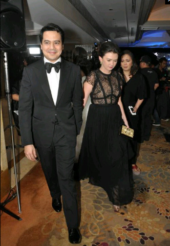 John Lloyd Cruz and Angelica Panganiban left Star Magic ball together