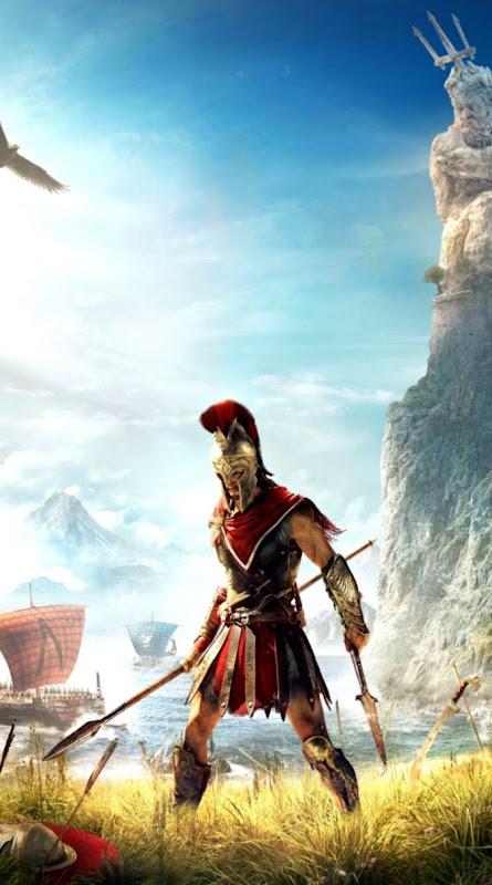 Assassins Creed Odyssey video game warrior 720x1280 wallpaper