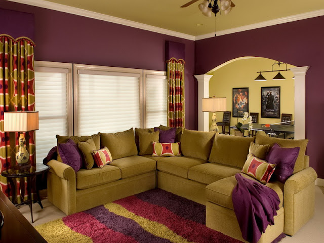 Good living room color schemes ideas for two toned combo, living room leather sectional ideas