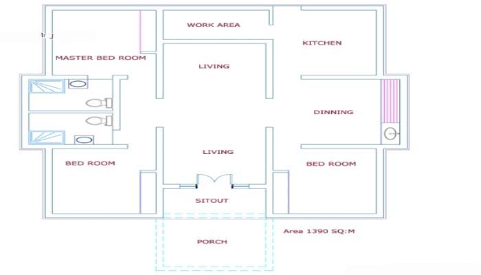 Cute Looking Budget Kerala 2 Bedroom Home Design And Plan: Cute 3 Bedroom Low Budget Kerala Home In 1100 Sq Ft