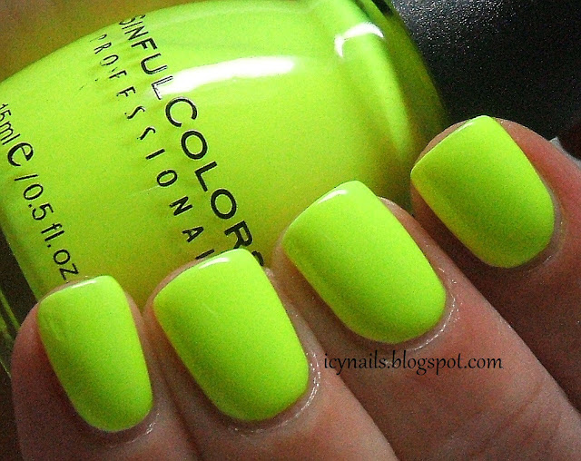 Colour Series ~ Neon: Sinful Colors Neon Melon - Notes ...
