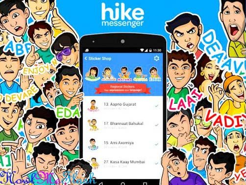 hike stickers from whatsapp and facebook messenger