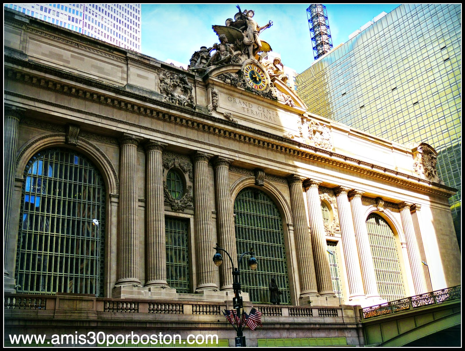 Fachada de la Grand Central Terminal de Nueva York
