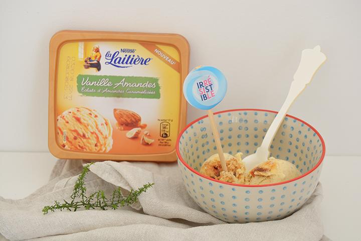 La Laitière glaces vanille amandes
