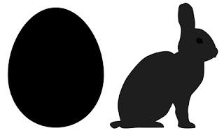 Vorlage mit Umriss von Ei und Hase