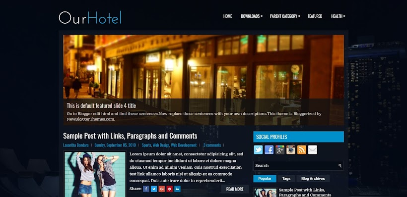 OurHotel Free Blogger Template