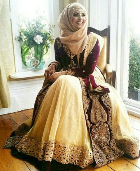baju muslim kain sari india